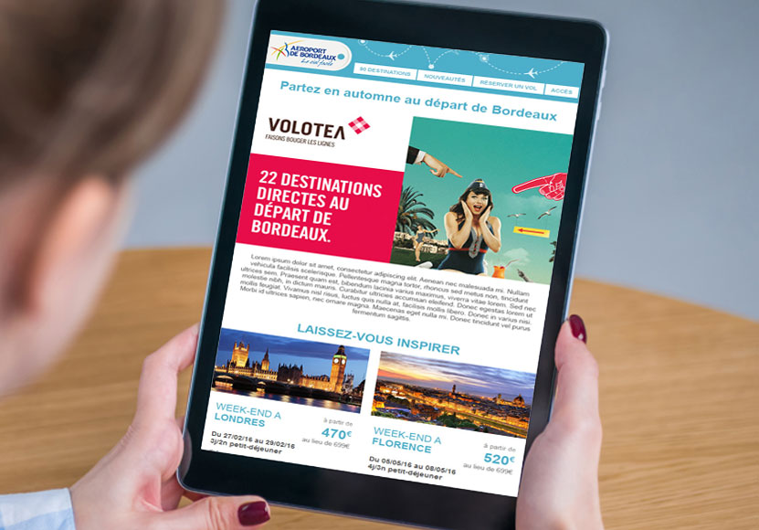 Newsletter Aéroport de Bordeaux