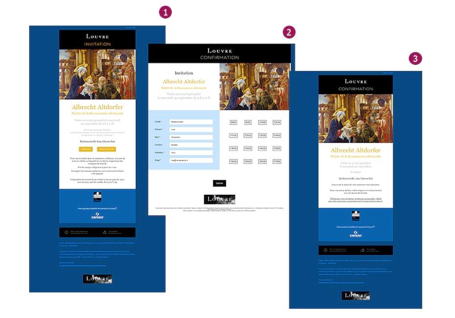 Mécanique Emailing et Landing Page Musée du Louvre
