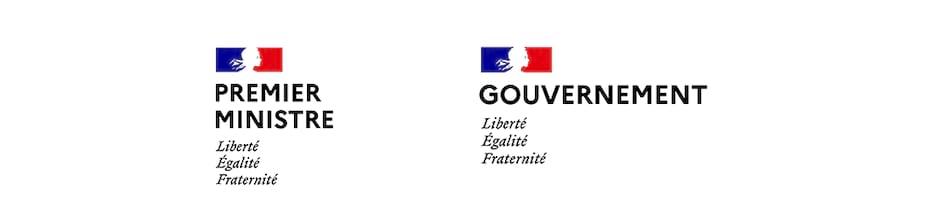 Logos du Premier Ministre et du Gouvernement français